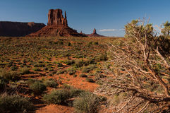 West Mitten Butte in Monument Valley Royalty Free Stock Images