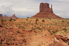 The West Mitten Butte rock formation Royalty Free Stock Images