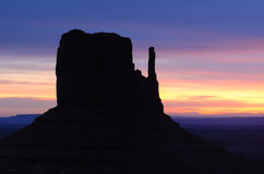 West Mitten Sunrise, Monument Valley Royalty Free Stock Photography