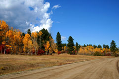 West Mountain Road. Fall on West Mountain Road, Valley County Idaho Stock Images