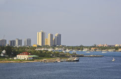 West Palm Beach, Флорида, США, горизонт Стоковая Фотография
