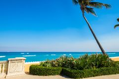 West Palm Beach. Beautiful east coast beach in West Palm Beach, Florida Stock Photos