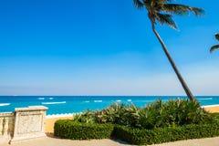West Palm Beach. Beautiful east coast beach in West Palm Beach, Florida stock photos
