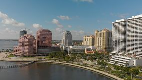 WEST PALM BEACH, FL - APRIL 10, 2018: Aerial skyline of Palm Bea Stock Images