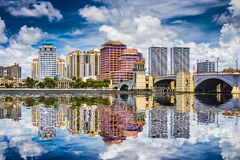 West Palm Beach Florida Arkivbild