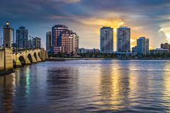West Palm Beach Florida Royaltyfri Fotografi