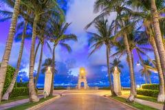 West Palm Beach, Florida, EUA na praia imagem de stock royalty free