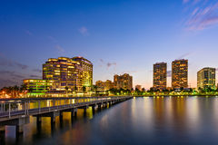 West Palm Beach Florida Skyline Stock Photography