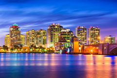 West Palm Beach Florida Skyline Royalty Free Stock Photos