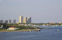 West Palm Beach, Florida, U.S.A., orizzonte Fotografia Stock