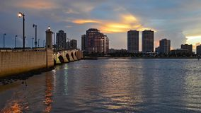 West Palm beach, Florida, USA skyline stock video footage