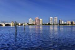 West Palm Beach horisont Fotografering för Bildbyråer