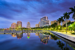 West Palm Beach la Florida Foto de archivo