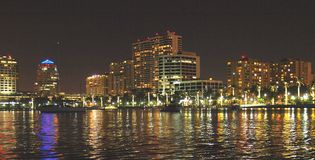 West Palm Beach Lights Stock Photo