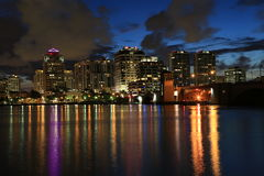West Palm Beach at night Royalty Free Stock Photos