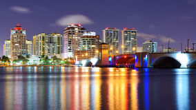West Palm Beach Skyline Royalty Free Stock Photos