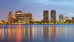 West Palm Beach Skyline Stock Images