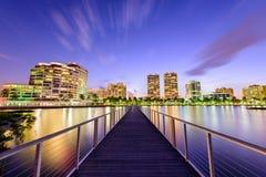 West Palm Beach Skyline. West Palm Beach, Florida, USA downtown skyline on the intracoastal waterway Royalty Free Stock Photo
