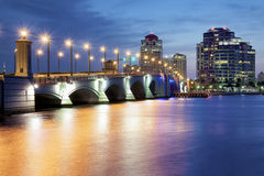 West Palm Beach Skyline Stock Image