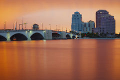 West Palm Beach Skyline Reflection Stock Images