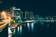 The West Palm Beach skyline seen from the Royal Palm Bridge at n Stock Image