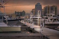 West- Palm Beachskyline stockfoto