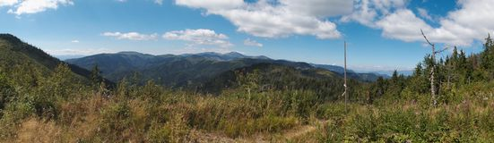 West panorama view from Havrania Polana in Nizke Tatry mountains Royalty Free Stock Photography