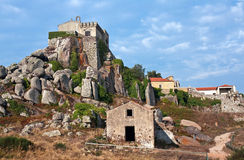 West Peninha. Convent of Peninha and its religious magic atmosphere Stock Photography