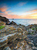 West Pentire in Cornwall Royalty Free Stock Photo