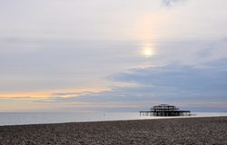 The West pier in Brighton Royalty Free Stock Photo
