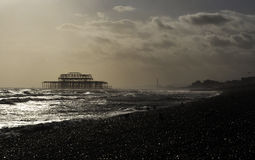 The West Pier in Brighton Stock Images