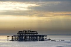 The west Pier in Brighton Royalty Free Stock Photos