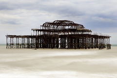 West Pier Brighton. The West Pier Brighton and Hove Royalty Free Stock Image