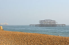 West Pier at Brighton, East Sussex, England Royalty Free Stock Photo
