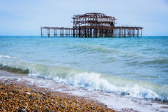 West Pier in Brighton, England Royalty Free Stock Image