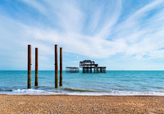 West Pier in Brighton, England Royalty Free Stock Photo