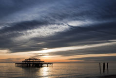 The West Pier in Brighton, UK Royalty Free Stock Photo