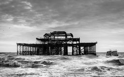 The West Pier in Brighton Royalty Free Stock Images
