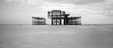 The remains of the West Pier Royalty Free Stock Photography