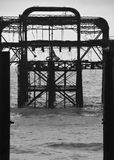 West pier Silhouette. A Black and White silhouette of West Pier in Brighton Stock Photography