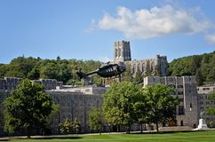 West Point helikopter obrazy stock
