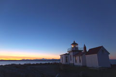 West Point Lighthouse. A lighthouse facing the sunset Stock Photos