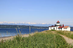 West Point Lighthouse Discovery Park Seattle Royalty Free Stock Photos