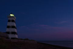 West Point Lighthouse at dusk Royalty Free Stock Photography