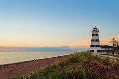 West Point Lighthouse at dusk Stock Images