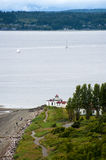 West Point Lighthouse, Seattle, Washington. Royalty Free Stock Images