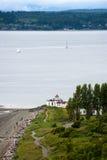 West Point Lighthouse, Seattle, Washington. Royalty Free Stock Images