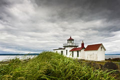 West Point Lighthouse, Seattle, Washington. Royalty Free Stock Photo