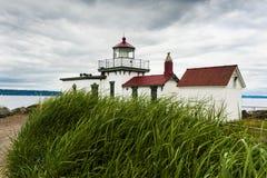 West Point Lighthouse, Seattle, Washington. Stock Photography