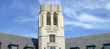 West Point Museum, New York, USA. The West Point Museum at the United States Military Academy in West Point, New York, on a beautiful, sunny day Stock Photo